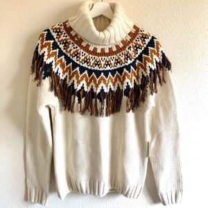 NWT Forever 21 Patterned Knit Turtleneck Sweater